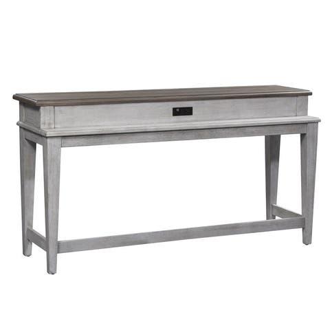 Heartland Antique White Console Bar Table