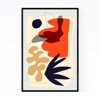 Noir Gallery Abstract Modern Minimal Framed Art Print