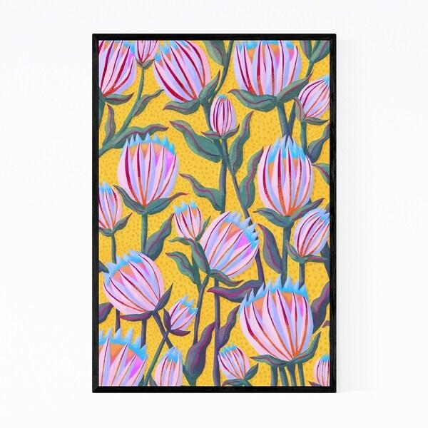 Noir Gallery Proteas Plant Floral Botanical Framed Art Print