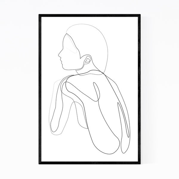 Noir Gallery Feminine Minimal Line Drawing Framed Art Print