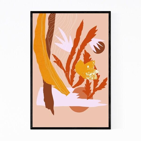 Noir Gallery Autumn Fall Abstract Botanical Framed Art Print