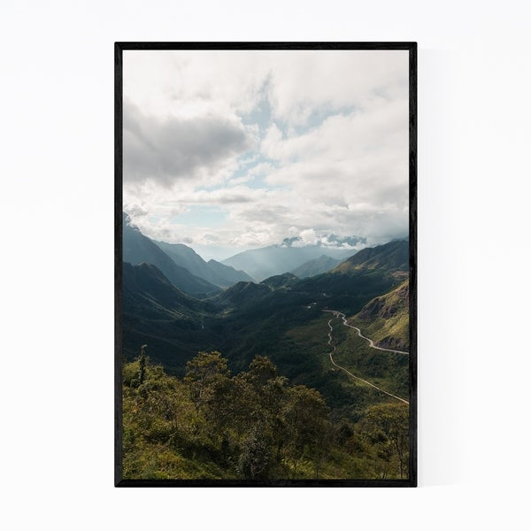 Noir Gallery Sapa Vietnam Mountains Landscape Framed Art Print