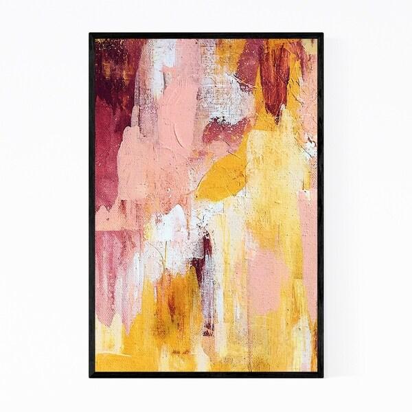 Noir Gallery Abstract Pastel Modern Painting Framed Art Print