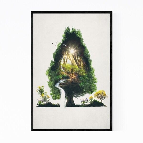 Noir Gallery Surrealism Forest Nature Floral Framed Art Print
