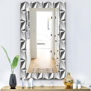 Designart 'Scandinavian 1' Modern Mirror - Vanity Mirror - Grey/Silver