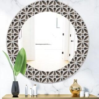 Designart 'Scandinavian 11' Mid-Century Mirror - Oval or Round Wall Mirror