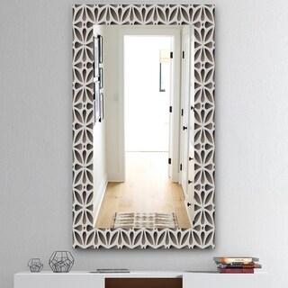 Designart 'Scandinavian 11' Mid-Century Mirror - Wall Mirror - Grey/Silver