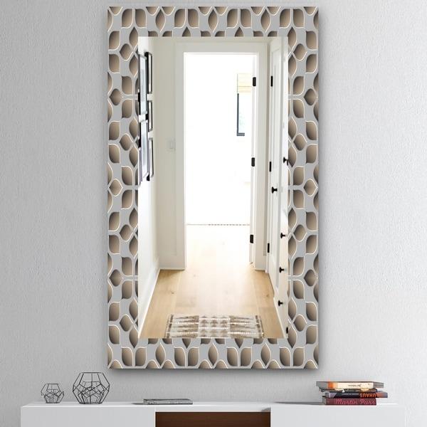 Designart 'Scandinavian 10' Mid-Century Mirror - Wall Mirror - Grey/Silver