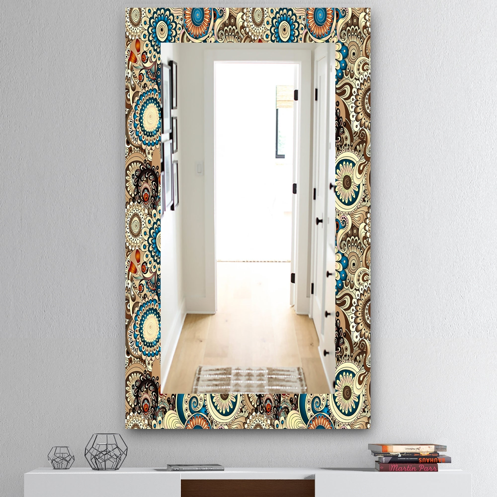 Picture of: Shop The Curated Nomad Paisley 10 Mid Century Modern Vanity Mirror Overstock 28558169