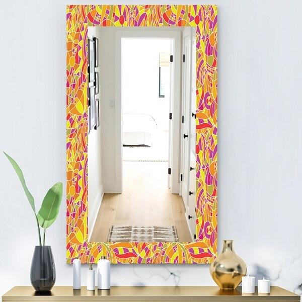 Designart 'Hand' Modern Mirror - Wall Mirror - Gold
