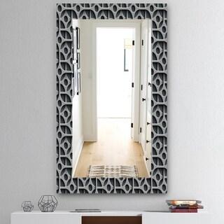 Designart 'Scandinavian 19' Mid-Century Mirror - Wall Mirror - Grey/Silver