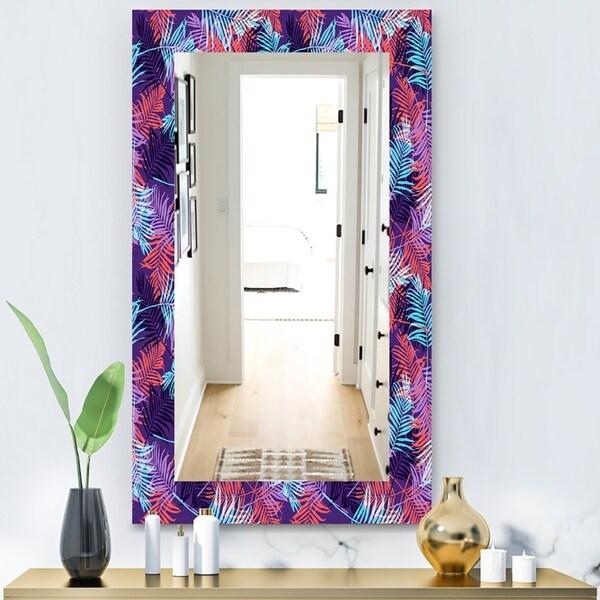 Designart 'Tropical Mood Blue 6' Bohemian and Eclectic Mirror - Wall Mirror