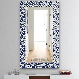 Designart 'Scandinavian 18' Mid-Century Mirror - Vanity Mirror - Blue