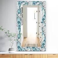 Designart 'Great Wave Inspiration' Traditional Mirror - Vanity Mirror - White