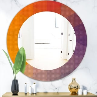 Designart 'Dotted Geometry' Modern Mirror - Oval or Round Wall Mirror