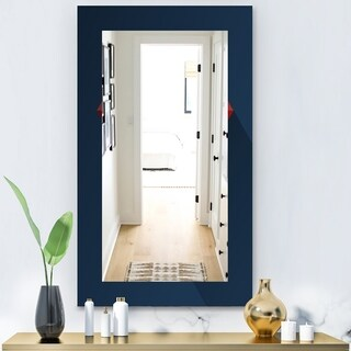 Designart 'Simple Blue' Modern Mirror - Wall Mirror - Blue