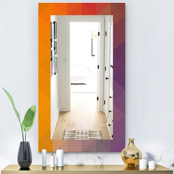 Designart 'Dotted Geometry' Modern Mirror - Wall Mirror - Gold