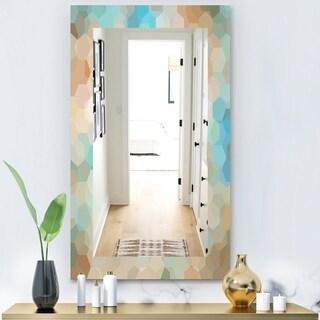 Designart 'Honeycomb 4' Modern Mirror - Wall Mirror - Blue