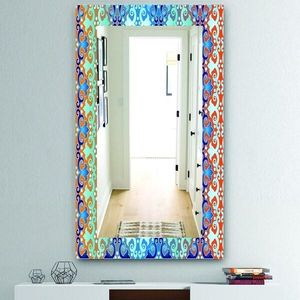 Designart 'Underwater' Mid-Century Mirror - Wall Mirror - Blue