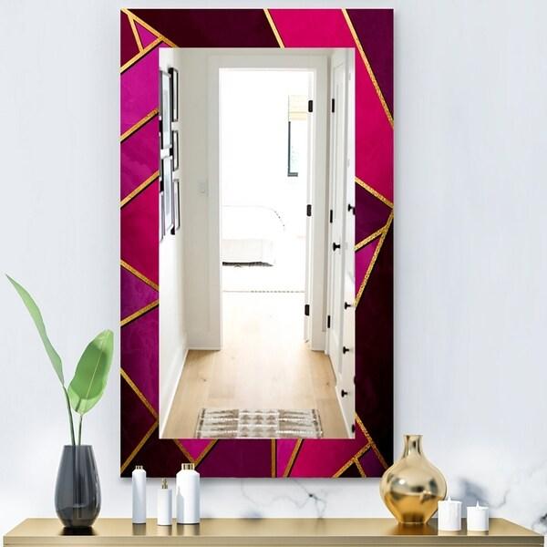 Designart 'Capital Gold Honeycomb 2' Modern Mirror - Vanity Mirror