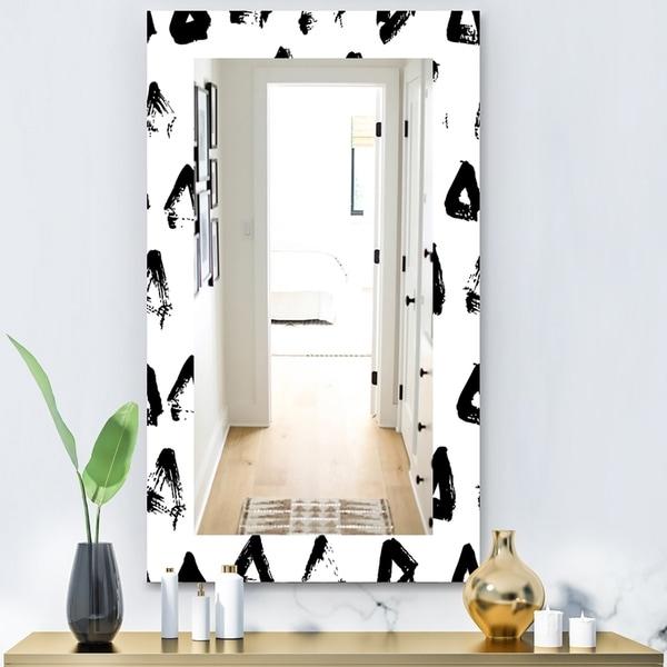 Designart 'Black & White 8' Modern Mirror - Contemporary Wall Mirror