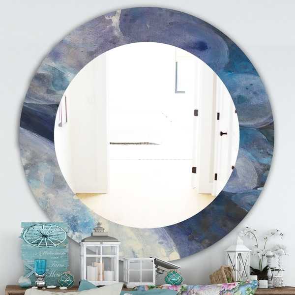 Porch & Den Daniel Indigo Abstract Pattern Mirror