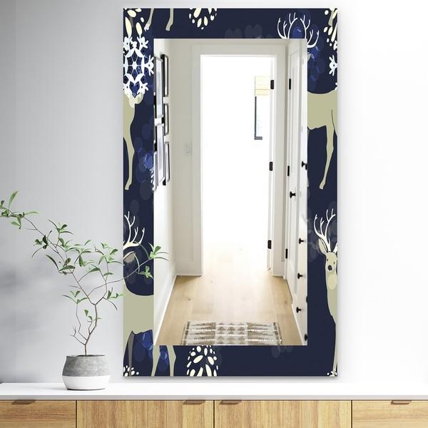 Designart 'Christmas III' Traditional Mirror - Wall Mirror - Brown