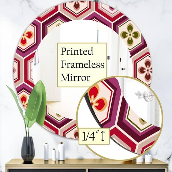 Designart Honeycomb 6 Mid Century Mirror Oval Or Round Wall Mirror On Sale Overstock 28559078