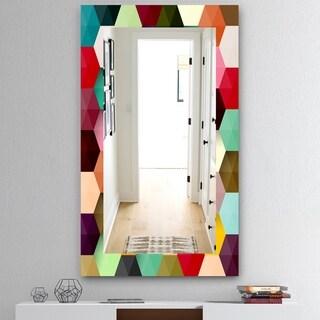Designart 'Honeycomb 5' Mid-Century Mirror - Vanity Mirror - Multi