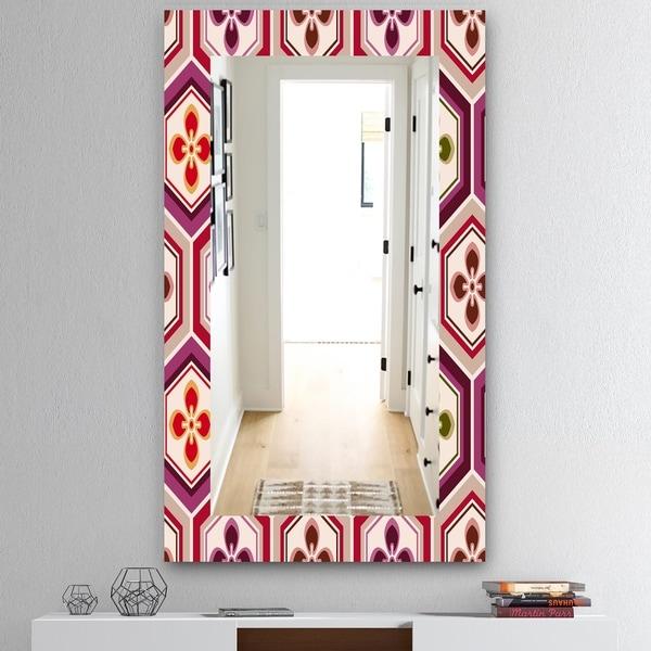Designart 'Honeycomb 6' Mid-Century Mirror - Wall Mirror