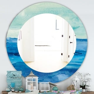 Designart 'Out To Sea' Traditional Mirror - Oval or Round Wall Mirror