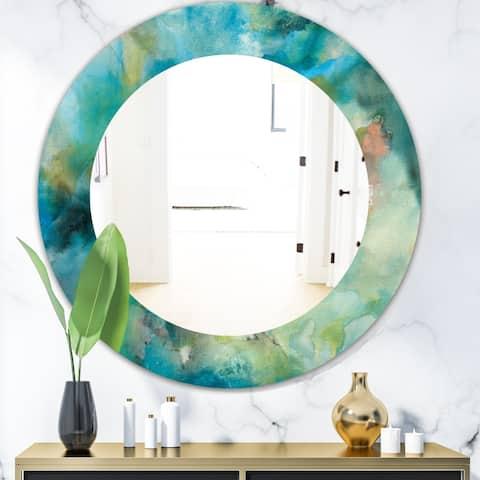 Designart 'Interstellar' Modern Mirror - Oval or Round Wall Mirror - Multi