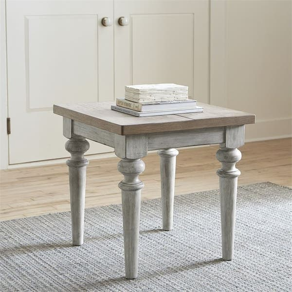 Magnificent Shop Heartland Antique White Rustic End Table Free Beatyapartments Chair Design Images Beatyapartmentscom