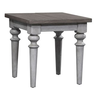 Heartland Antique White Rustic End Table
