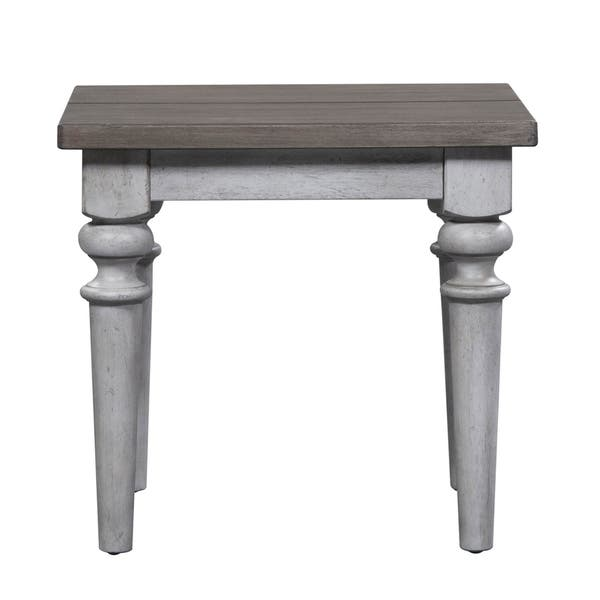 Fine Shop Heartland Antique White Rustic End Table Free Beatyapartments Chair Design Images Beatyapartmentscom