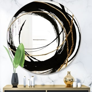 Link to Porch & Den 'Black & White 10' Glam Mirror Similar Items in Mirrors