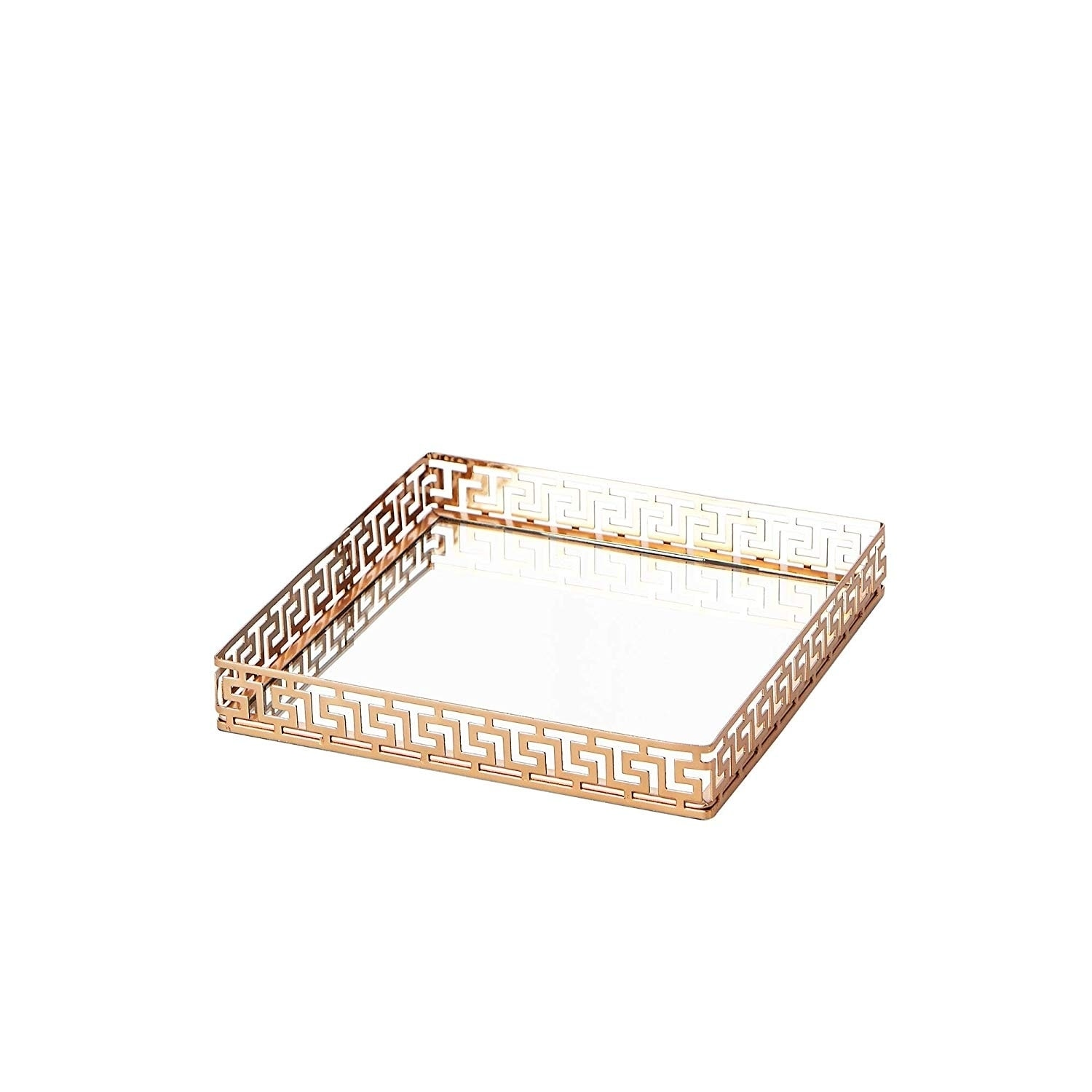 FairDeco Rose Gold Electroplating Ceramic Leaf Trays Small Jewelry Storage Box Decorative Centerpiece Accents