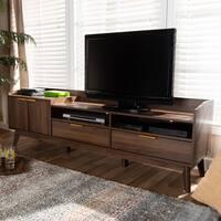 Mid-Century Modern 2-Drawer TV Stand