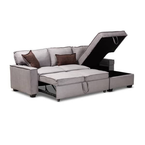 Fine Shop Contemporary Upholstered Sectional Sofa With Pull Out Inzonedesignstudio Interior Chair Design Inzonedesignstudiocom