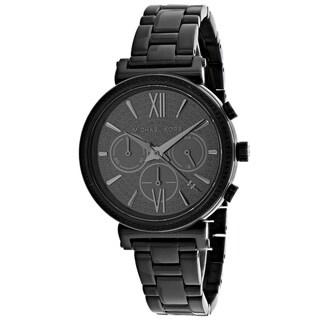 Michael Kors Women's MK6632 'Sofie' Chronograph Black Stainless Steel Watch