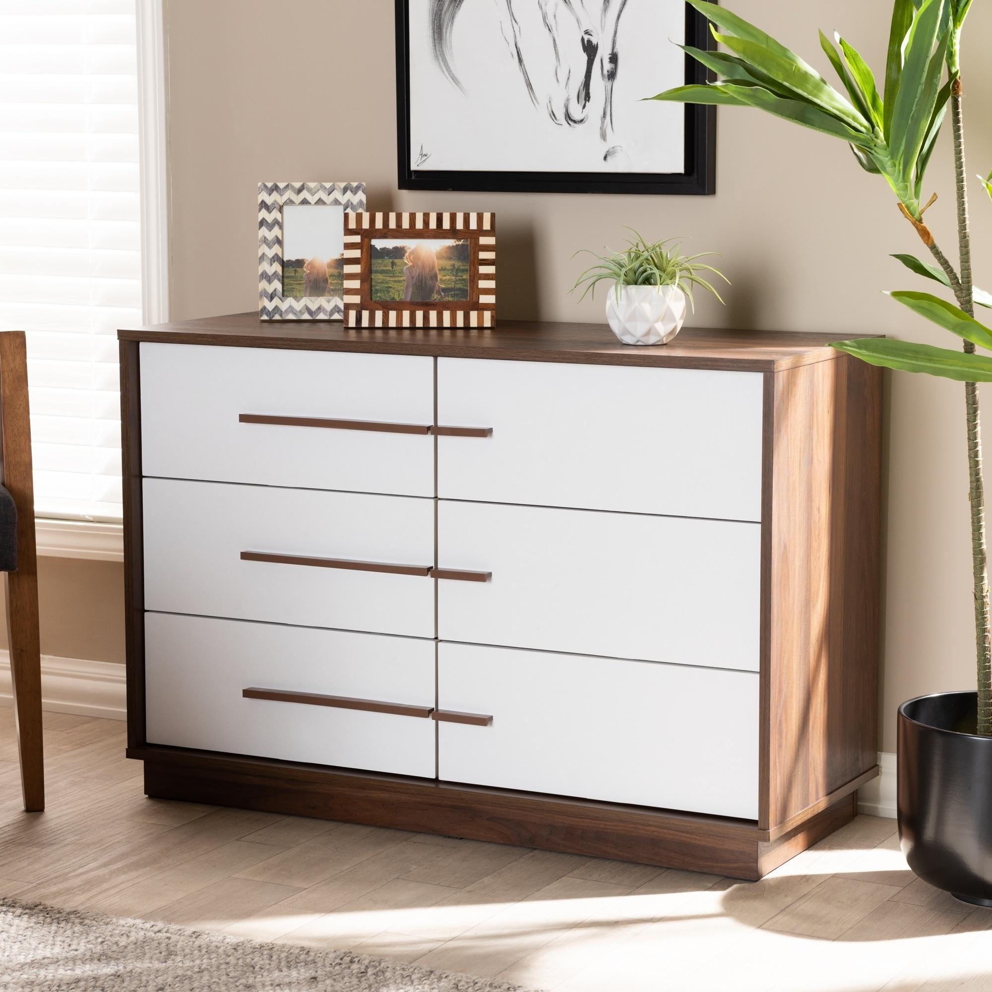 Image of: Shop Black Friday Deals On Mid Century Modern 6 Drawer Dresser On Sale Overstock 28560731