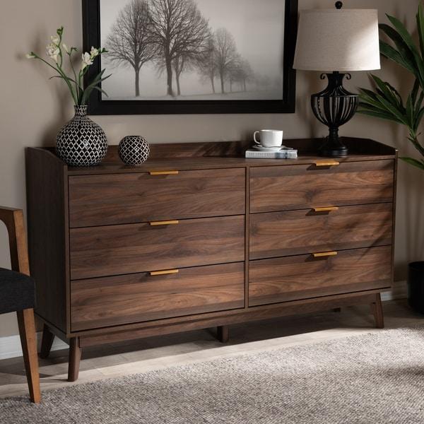 Mid-Century Modern 6-Drawer Dresser