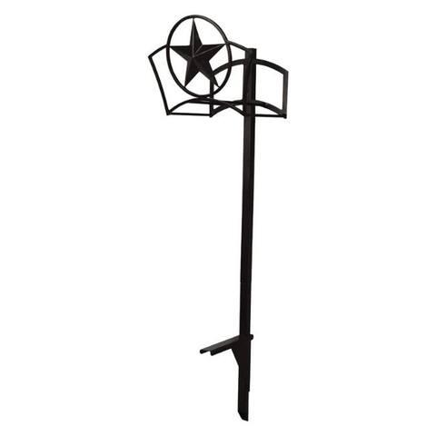 Suncast 150 ft. Post Mount Decorative Black Hose Hanger