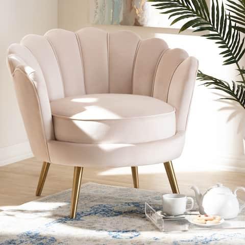 Carson Carrington Uggelfors Glamorous Fabric Accent Chair