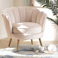 Glamorous Fabric Accent Chair