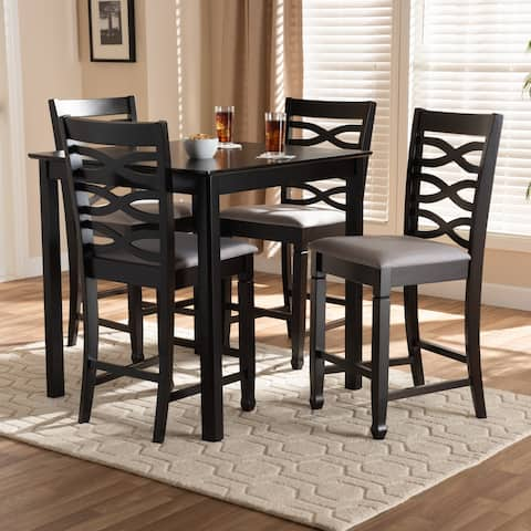 Modern and Contemporary Upholstered 5-Piece Pub Set