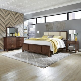 Bungalow King Bed; Night Stand; & Dresser with Mirror