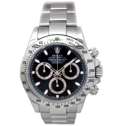 Pre-owned 40mm Rolex Stainless Steel Daytona 116520 - N/A - N/A