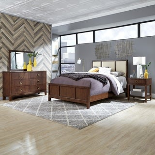 Bungalow Queen Bed; Night Stand; & Dresser with Mirror