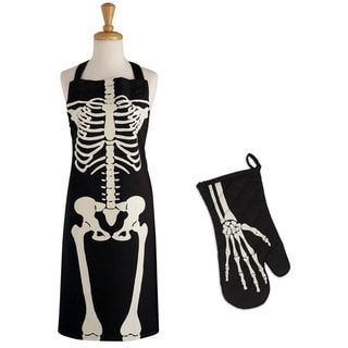 Link to DII Skeleton Print Apron & Oven Mitt Kitchen Set Similar Items in Cooking Essentials